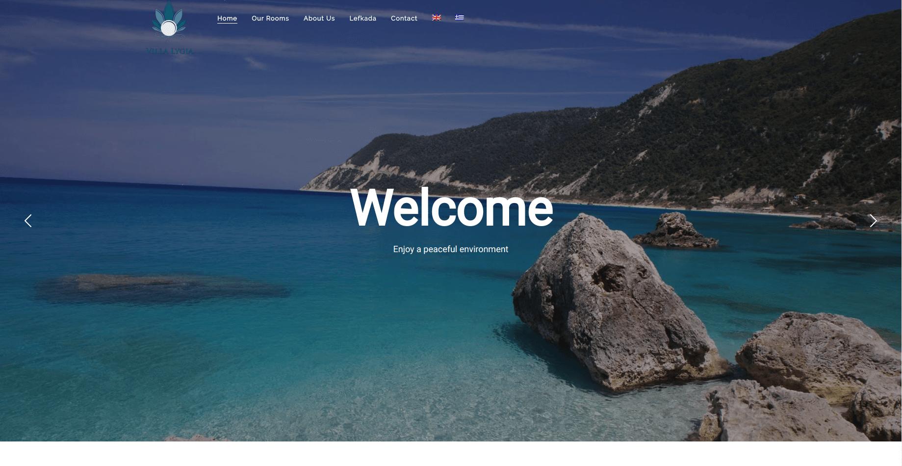 infinityweb-villalygia-homepage